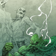 DC Comics has reveales the full cover to SWAMP THING #19, part of the gatefold...