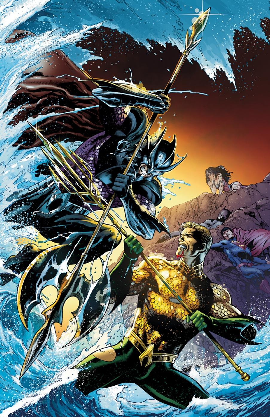 Justice League/Aquaman crossover for THRONE OF ATLANTIS