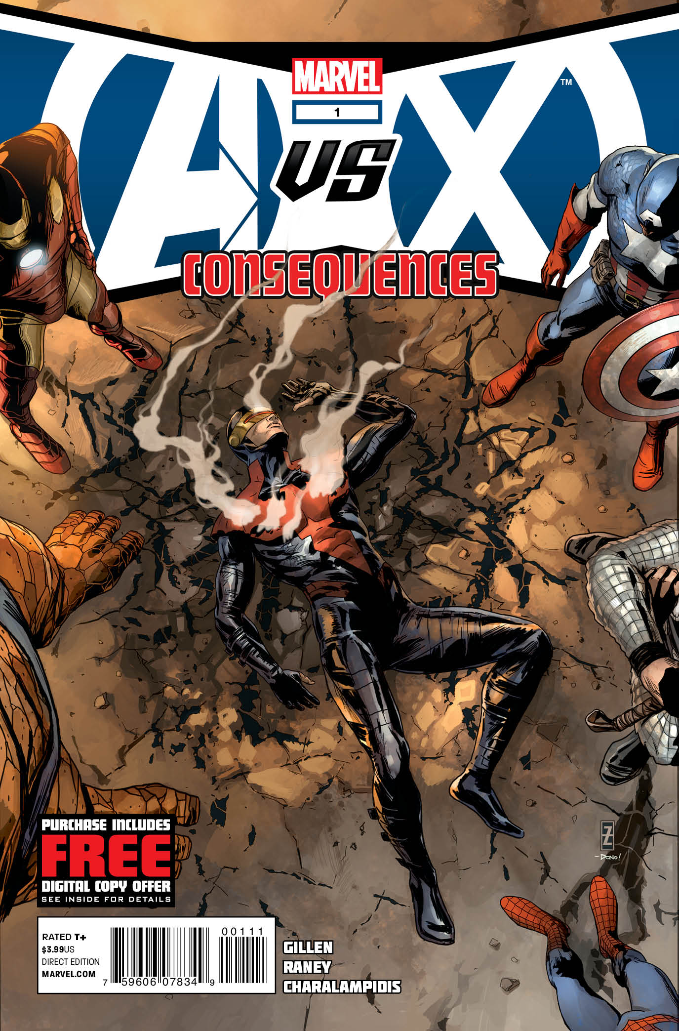 Marvel Reveals Cover To AVENGERS VS. X-MEN: CONSEQUENCES #1
