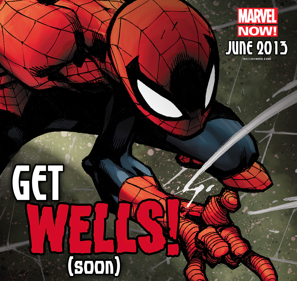 Spider-Man get (Zeb) Wells Soon!