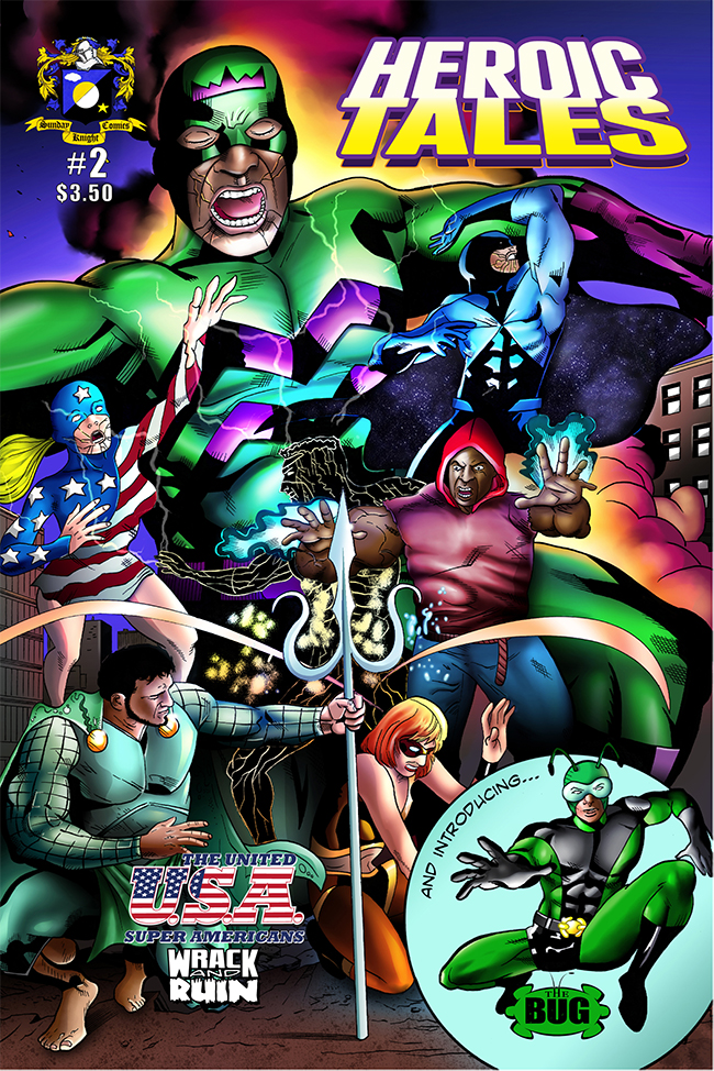 Heroic Tales #2, cover art by Martinho Duarte Abreu. Cover colors by Norman Wong.