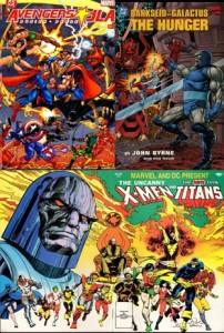 Avengers JLA Darkseid Galactus Uncanny X-Men The New Teen Titans