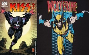 Kiss and Wolverine
