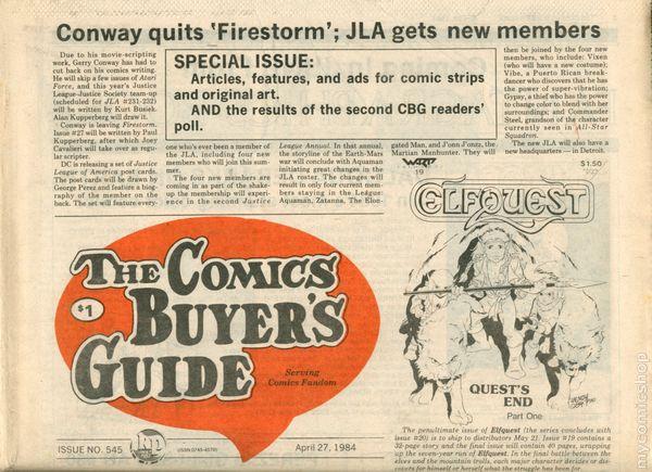 Comic Buyers 545 First TMNT