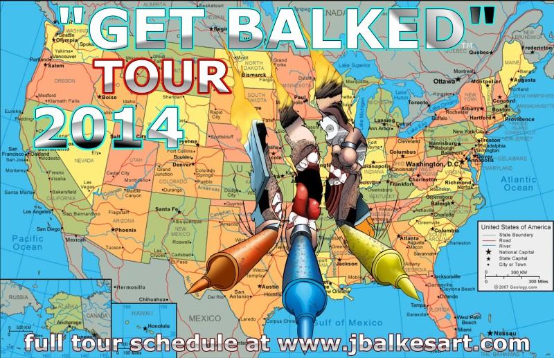 Get Balked 2014 Tour Poster