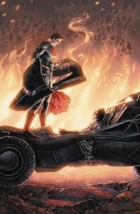 Green Arrow #50 Batman v Superman cover