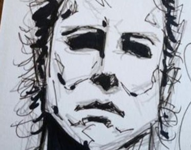 WIN Michael Myers Sketch Card