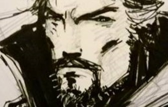 WIN Doctor Strange Sketch Card