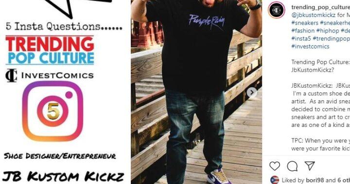 Insta 5 – Rapid Fire Q&A with Sneaker Designer/Entrepreneur JB Kustom Kickz